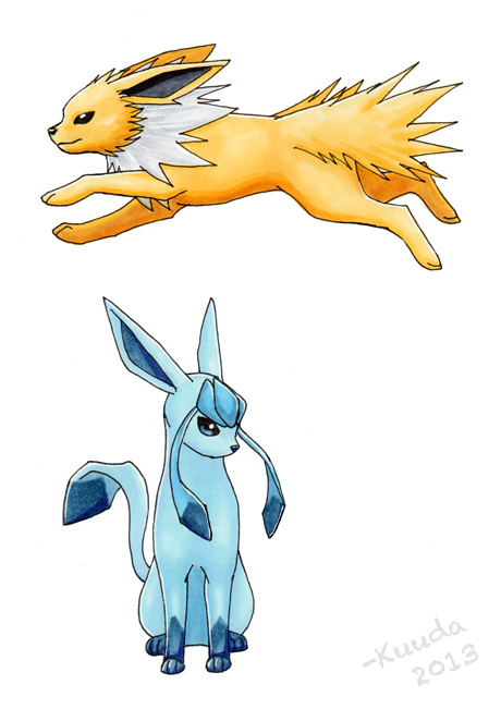 Jolteon & Glaceon